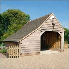 1-Bay Oak Frame Garages