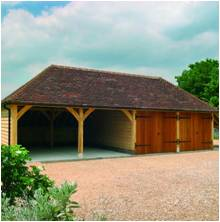 4-Bay Oak Frame Garages
